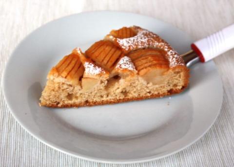 Jemný jablkový koláč - recept postup 9