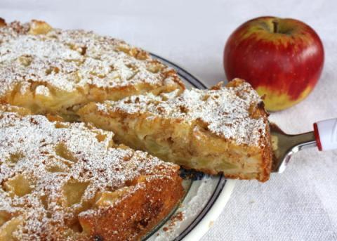 Jablkový koláč  - recept postup 6