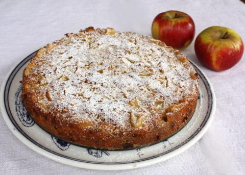 Jablkový koláč  - recept postup 5