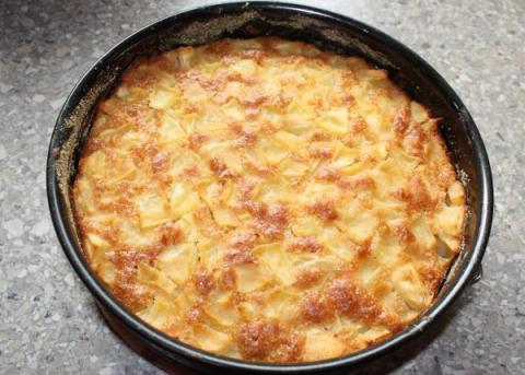 Jablkový koláč  - recept postup 4