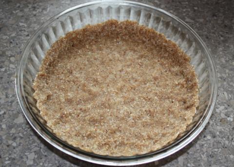 Jablkový koláč bez cukru a pečenia - recept postup 2