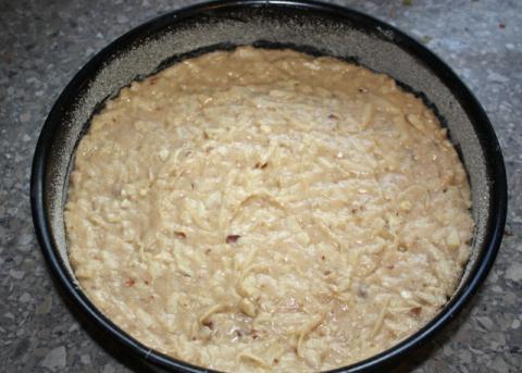 Jablkovo orechový koláč - recept postup 6