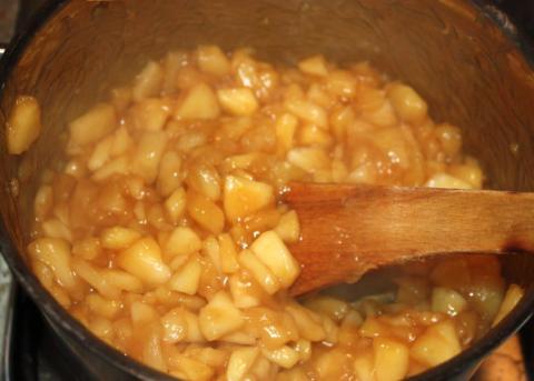 Jablková roláda - recept postup 7