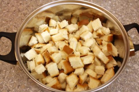 Jablková žemľovka - recept postup 2