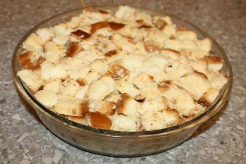 Jablková žemľovka - recept postup 8
