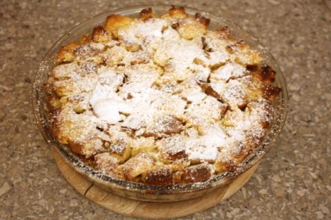 Jablková žemľovka - recept postup 9