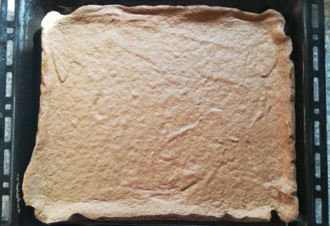 Fantastický jablkový koláč so smotanovou náplňou - recept postup 1
