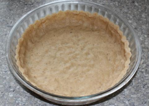 Jablkový koláč s tvarohom - recept postup 3