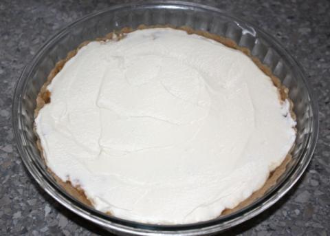 Jablkový koláč s tvarohom - recept postup 8
