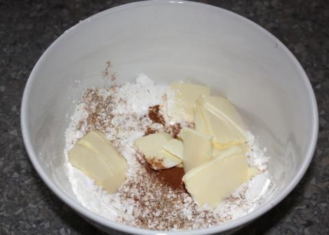 Jablkový koláč s tvarohom - recept postup 9