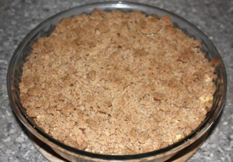Jablkový koláč s tvarohom - recept postup 11
