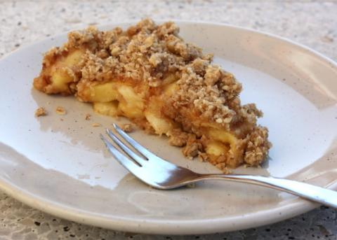 Jablkový crumble - recept postup 11