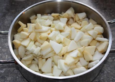 Jablkový pohár - recept postup 4