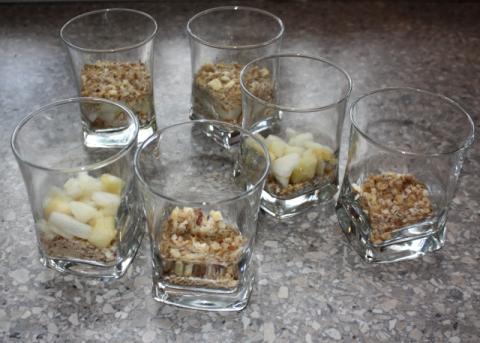 Jablkový pohár - recept postup 6