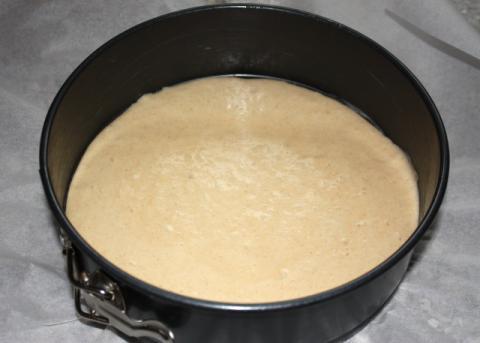 Jablkový koláč s orechami - recept postup 2