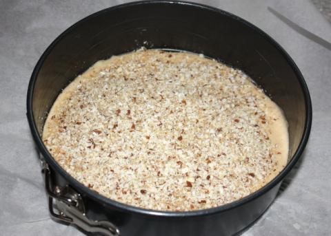 Jablkový koláč s orechami - recept postup 3
