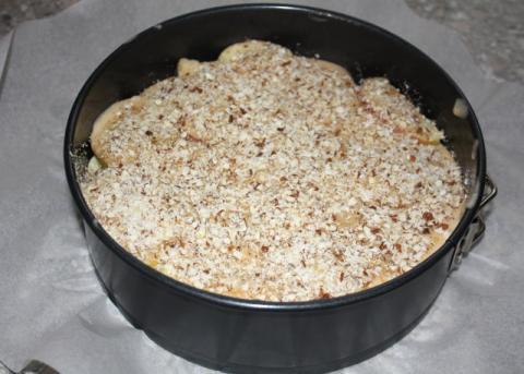 Jablkový koláč s orechami - recept postup 6