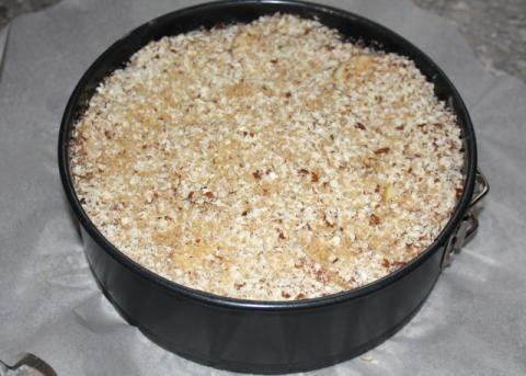 Jablkový koláč s orechami - recept postup 9