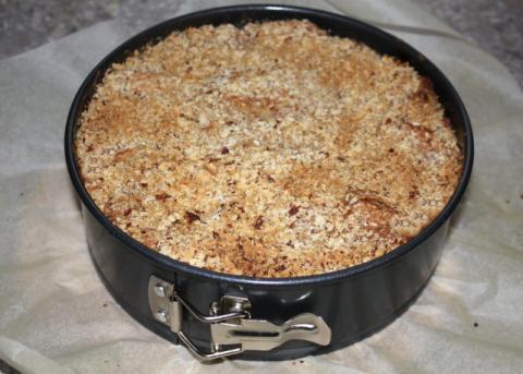 Jablkový koláč s orechami - recept postup 10
