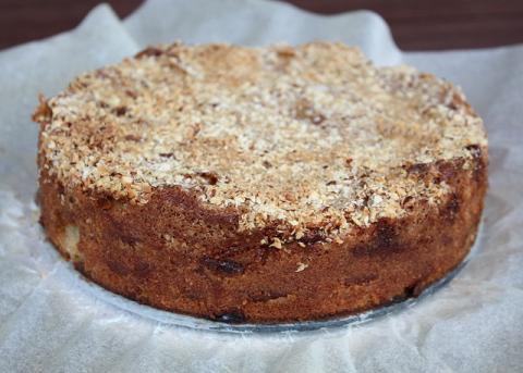Jablkový koláč s orechami - recept postup 11