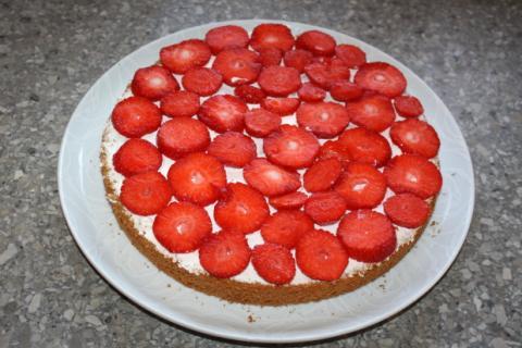 Jahodová torta - recept postup 3