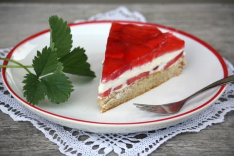 Jahodová torta - recept postup 9