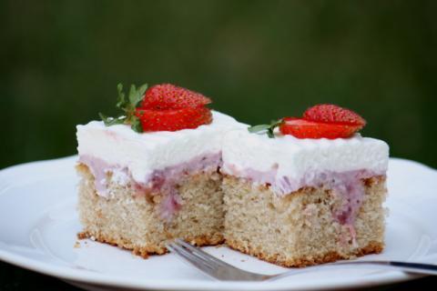 Jahodový koláč - recept postup 12