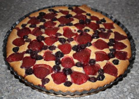 Jahodový koláč - recept postup 5
