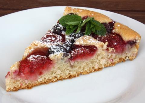 Jahodový koláč - recept postup 7