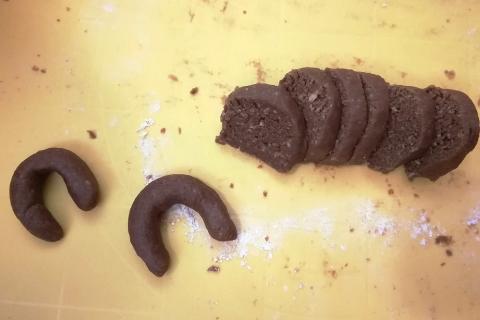 Kakaovo - orechové rožteky s medom - recept postup 4