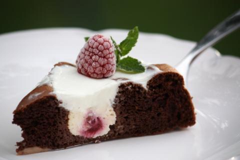 Kakaovo - tvarohový koláčik bez múky - recept postup 2