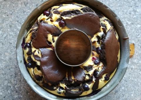 Tvarohovo-kakaový koláč - recept postup 2