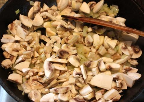 Zapekaný karfiol so šampiňónmi - recept postup 1