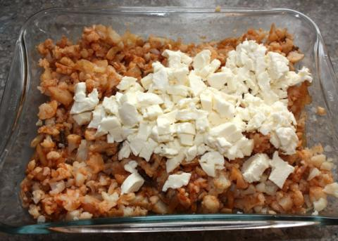 Zapekaný karfiol so šampiňónmi - recept postup 4