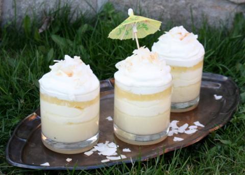 Kokosovo-ananásový pohár - recept postup 1