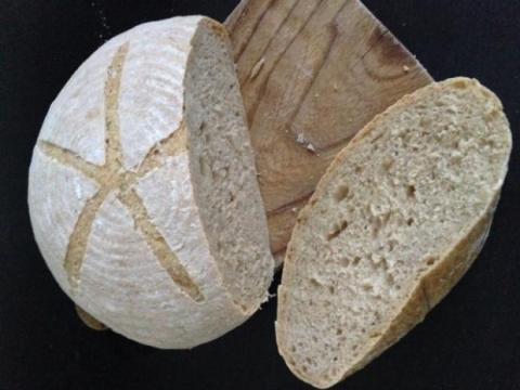 Kváskový špaldovoražný chlieb - recept postup 1