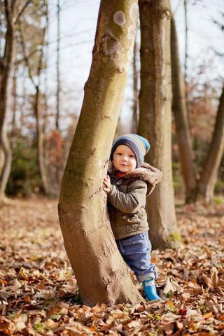 detská fotografia z úrovne očí