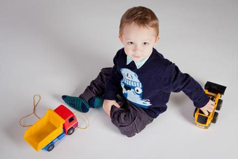 detská fotografia z nadhľadu