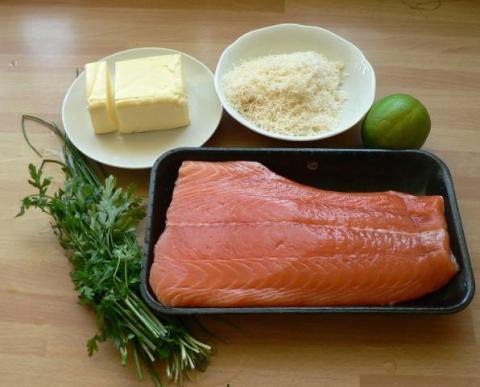 Losos s domácimi rezancami - recept postup 9