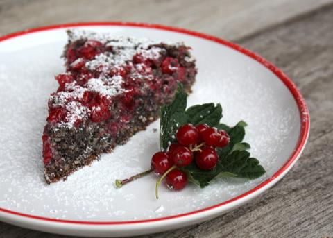 Makovo - orechový koláč s ríbezľami - recept postup 8