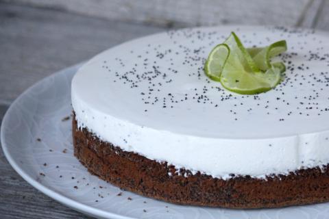 Makovo - smotanová nízkosacharidová torta  - recept postup 1
