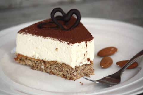 Mandľovo - smotanová nízkosacharidová torta - recept postup 1