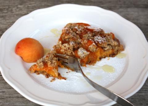 Marhuľový koláč bez múky a cukru - recept postup 10