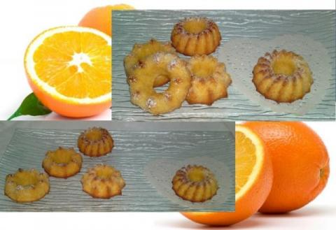 Pomarančové minibábovky...:-) - recept postup 1