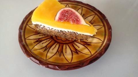 Mrkvová torta s tvarohom a mangovým pyré - recept postup 1