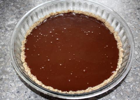 Nepečený čokoládový koláč - recept postup 7