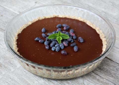 Nepečený čokoládový koláč - recept postup 8