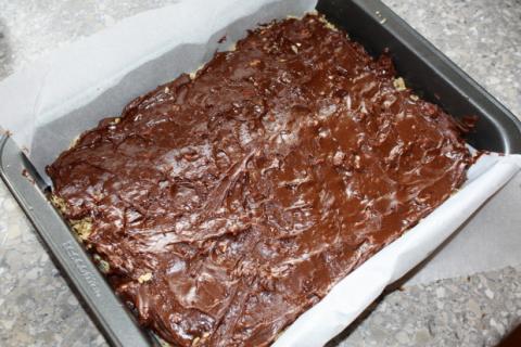 Nepečený čokoládový zákusok s ovsenými vločkami - recept postup 7