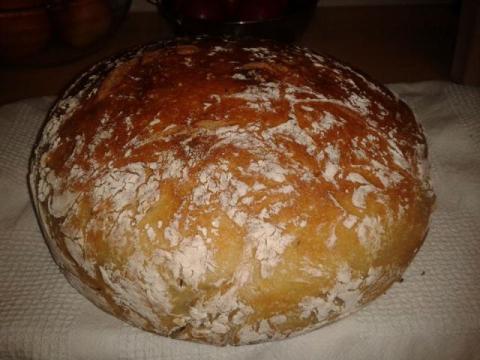 Chlebík z rúry - recept postup 3
