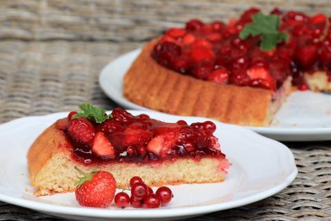 Letný ovocný koláčik so želé - recept postup 4